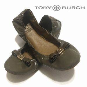"TORY BURCH Eddie ""Elephant"" Patent Leather Ballet"